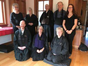 Group photo at the end of the Zazenkai